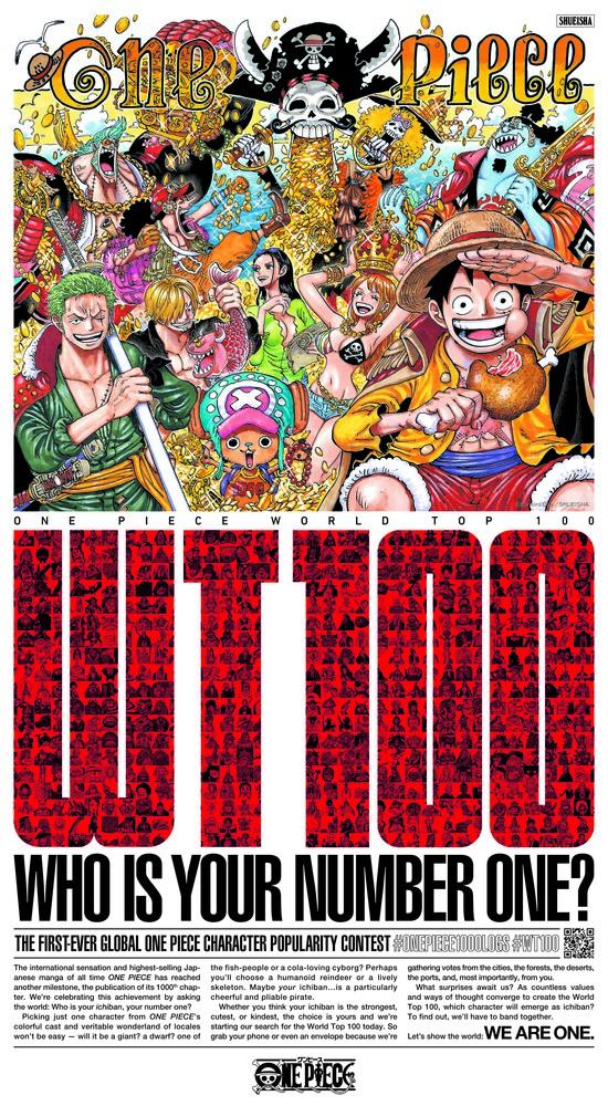 One Piece manga capítulo 1000 encuesta global