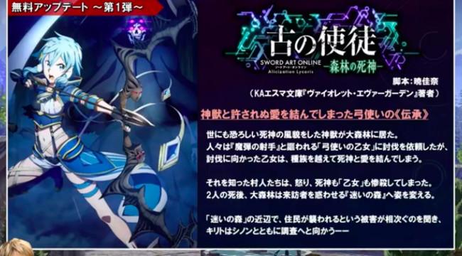 Sword Art Online: Alicization Lycoris - Free update available -  gamologi.com