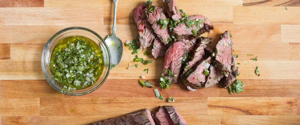 Sous Vide Hanger Steak with Chimichurri Sauce   Anova Culinary Sous Vide Hanger Steak with Chimichurri Sauce