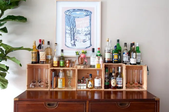 The Coolest Ways to Update Your Home Bar for $10 or Less
