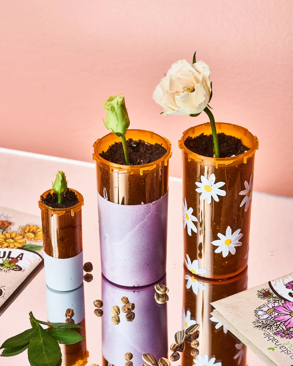 25 New Ways to Reuse Your Old Pill Bottles; #Recycle #ReusePillBottles