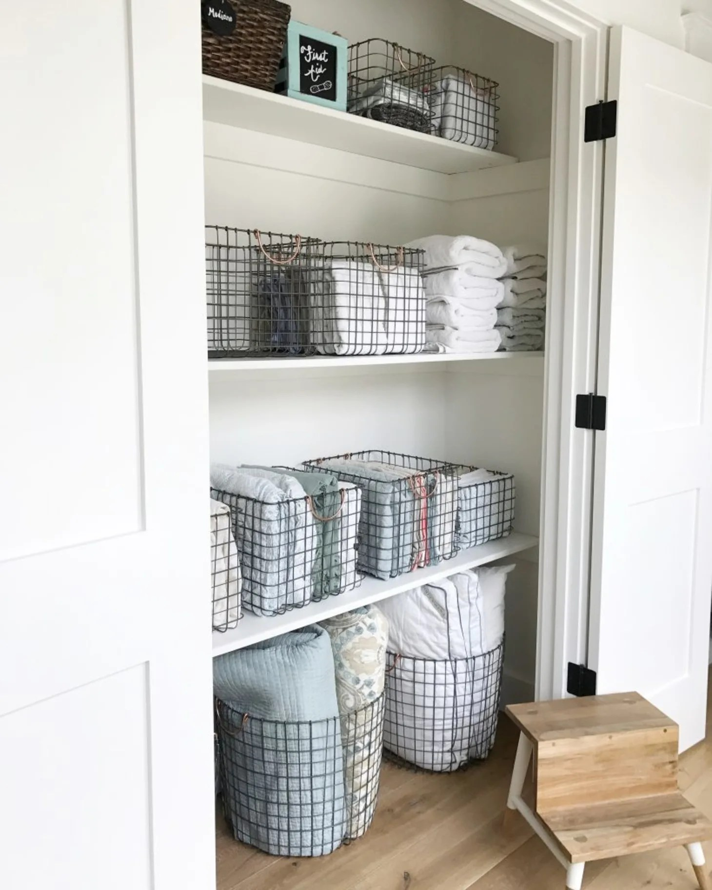 Linen Closet Organizing Ideas That Are Also Beautiful