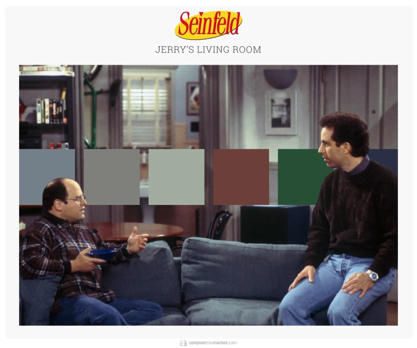 Tv Living Room Color Palettes Friends Seinfeld