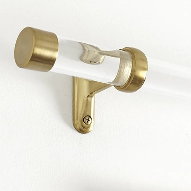 acrylic or lucite curtain rods