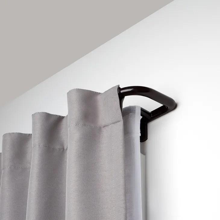 room darkening curtain rods wayfair