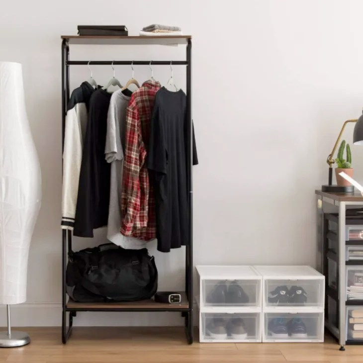 freestanding wardrobe and clothes racks