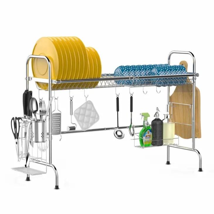 sink dish drying rack on amazon