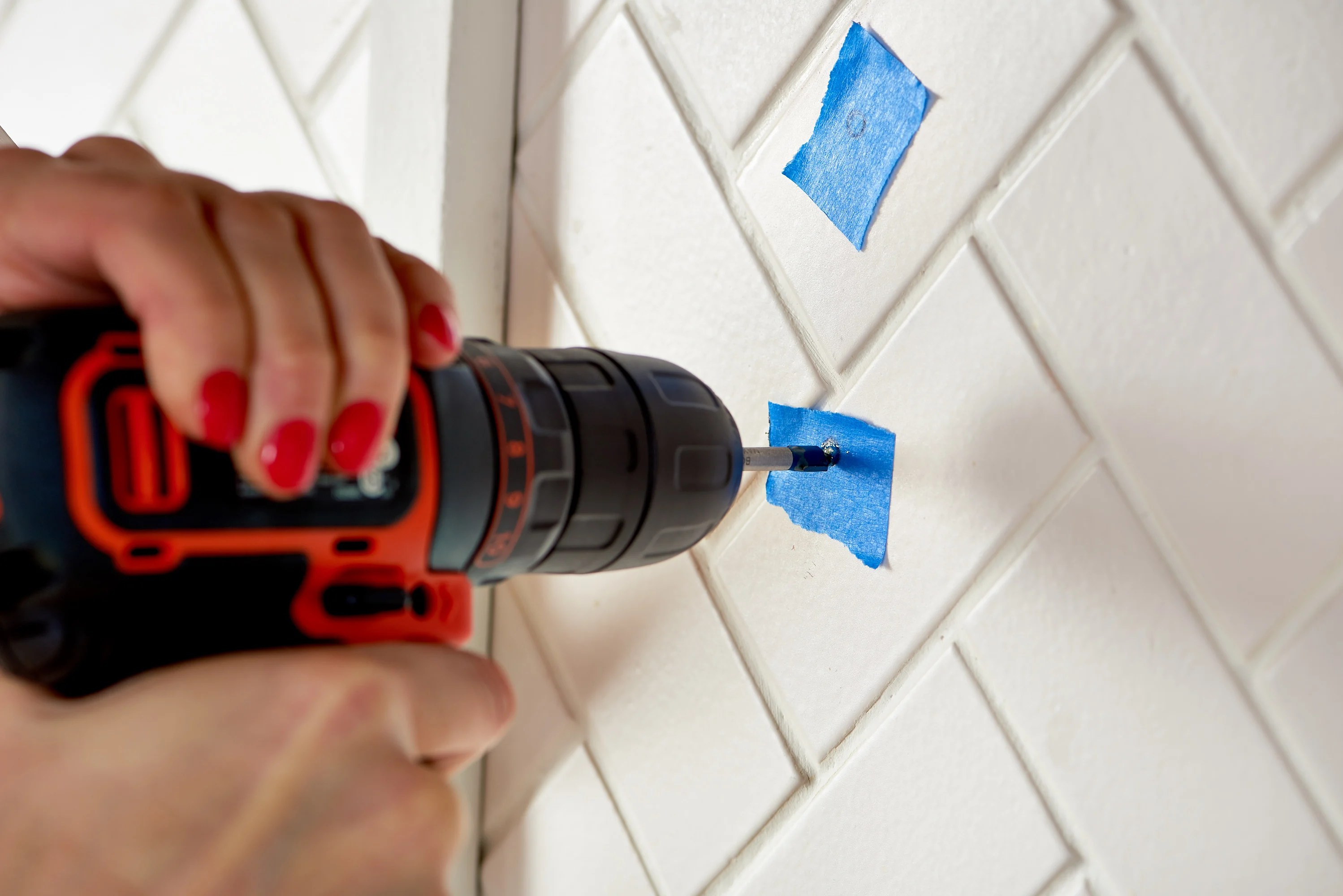 drill through tile backsplash ikea