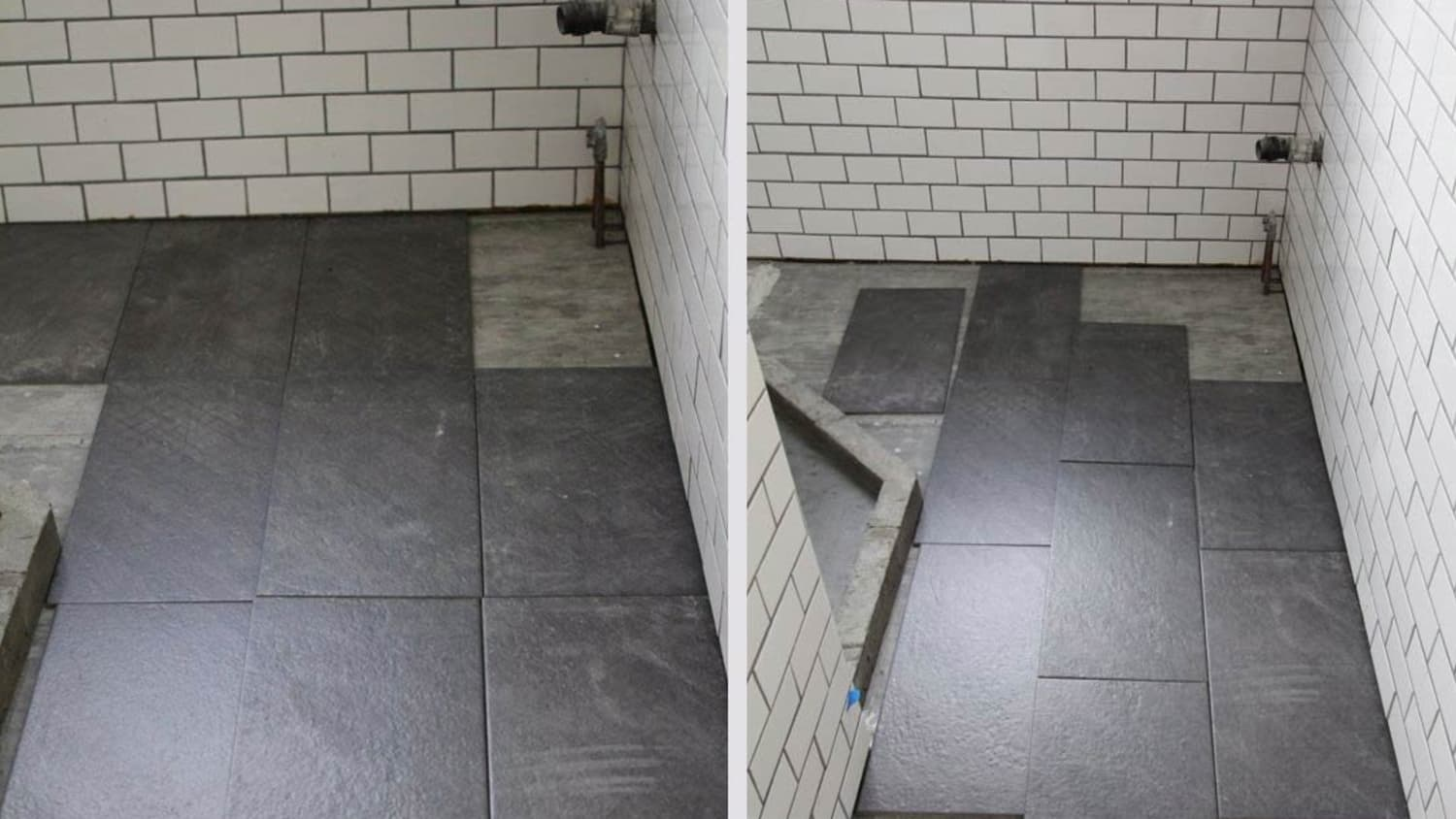 bathroom straight or staggered