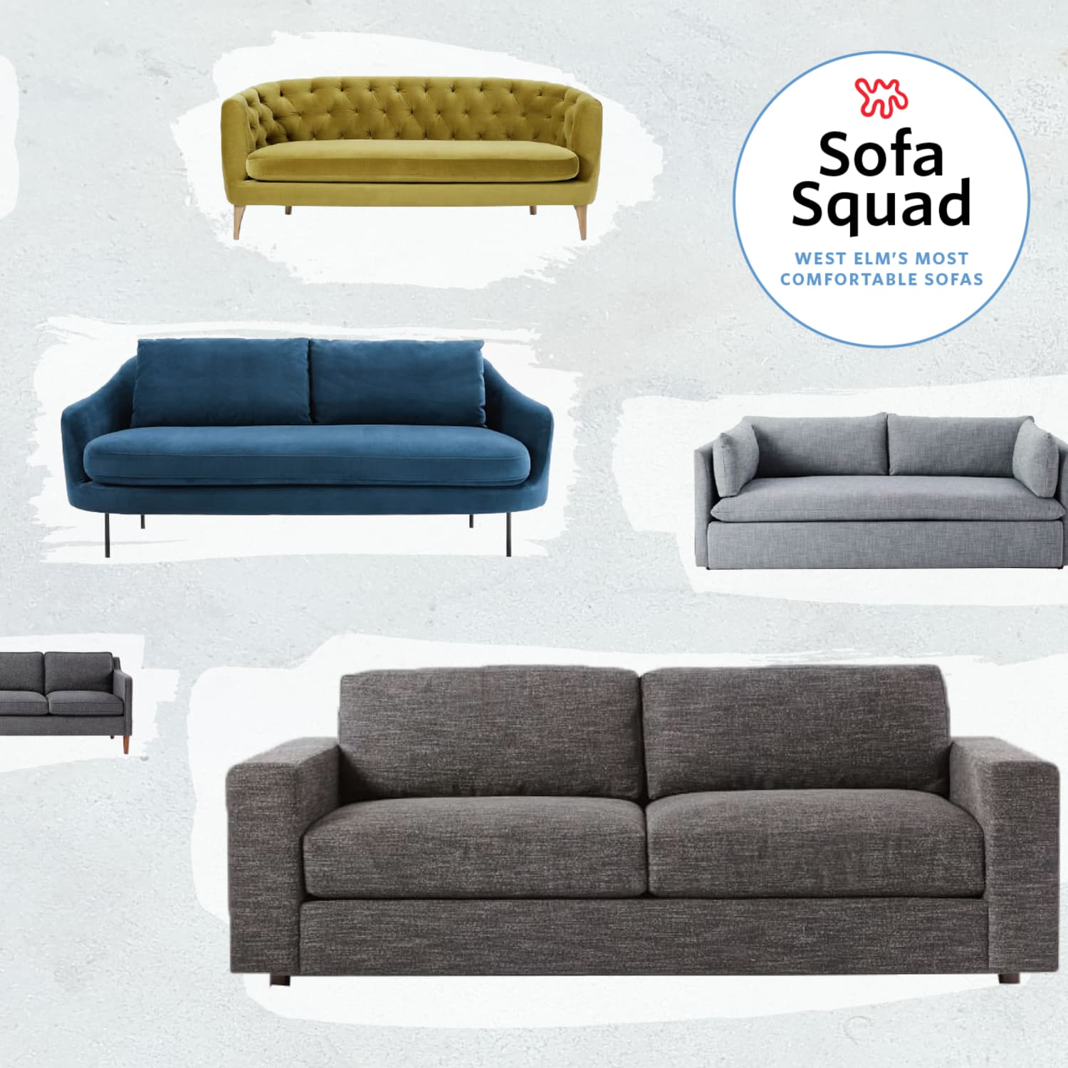 the most comfortable sofas at west elm