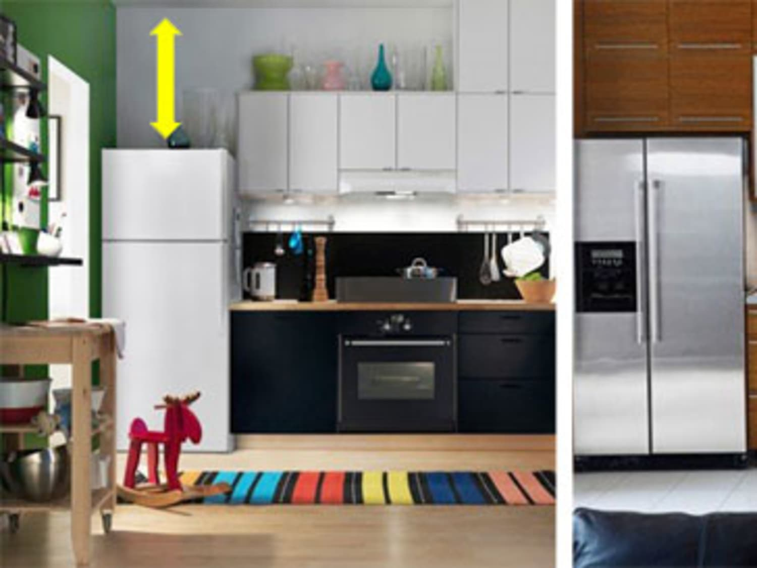 over the fridge cabinets vs a taller