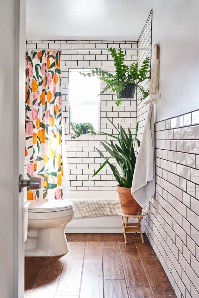 urban outfitters allover fruits shower