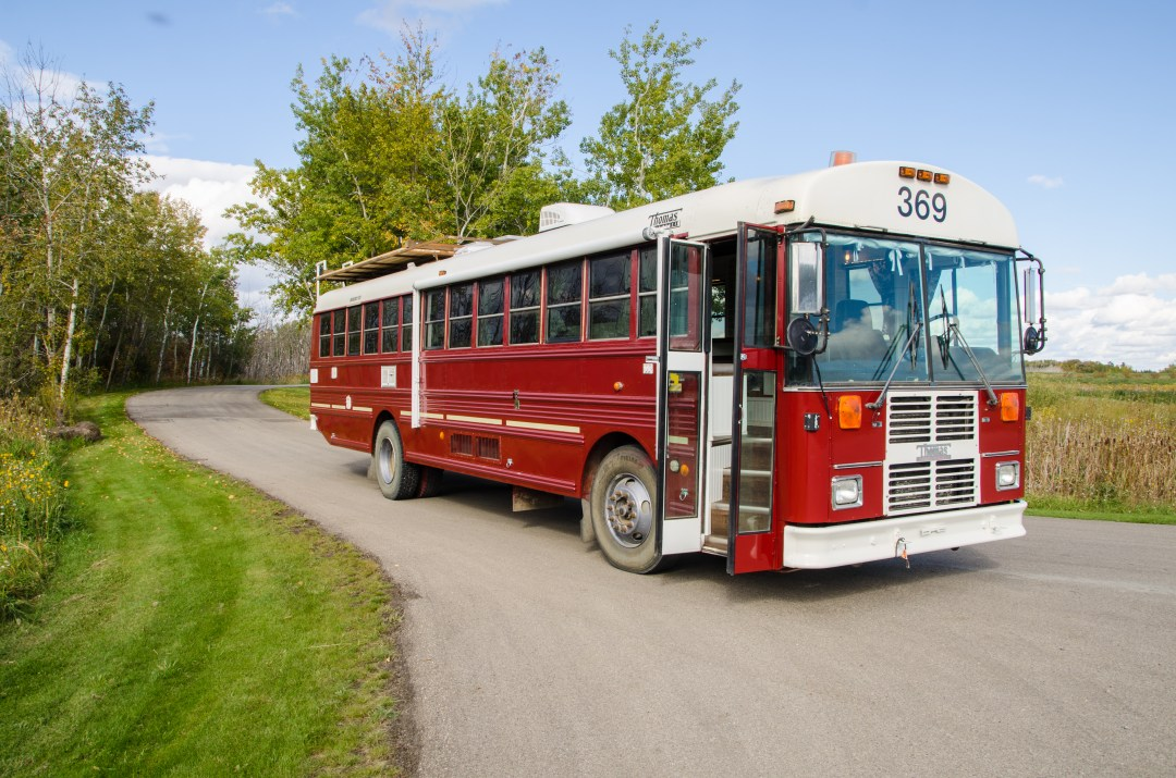 A Firefighter Calls This Converted Schoolbus Home