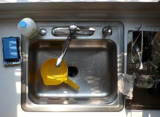 get rid of stinky kitchen sink smells