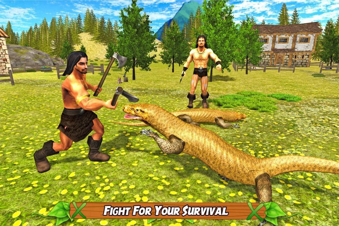 Komodo Dragon Lizard Rampage   Apk
