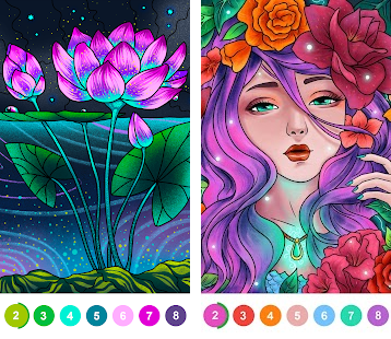 Paint By Number Coloring Book Color By Number Apk Download For Android Latest Version 2 44 1 Paint By Number Pixel Art Coloring Drawing Puzzle