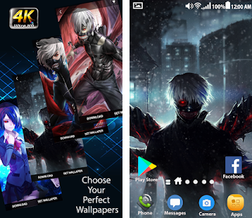 Tokyo Ghoul Wallpapers 4k Hd Backgrounds Apk Download For Android Latest Version 1 0 1 10042018 Tokyo Ghoul Wallpaper Backgrounds Anime Manga Ss3 Film Series Attack Ontitan