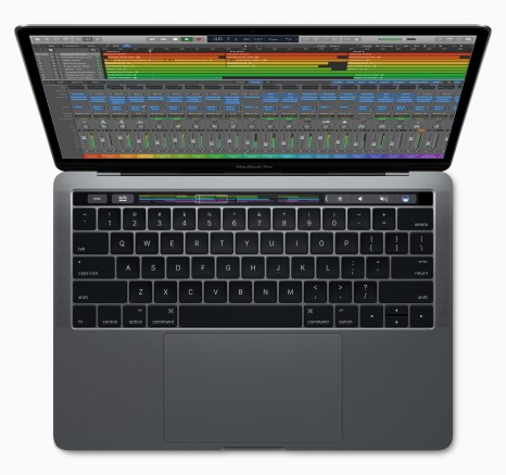 logic-pro-macbookpro-touchbar-top-view
