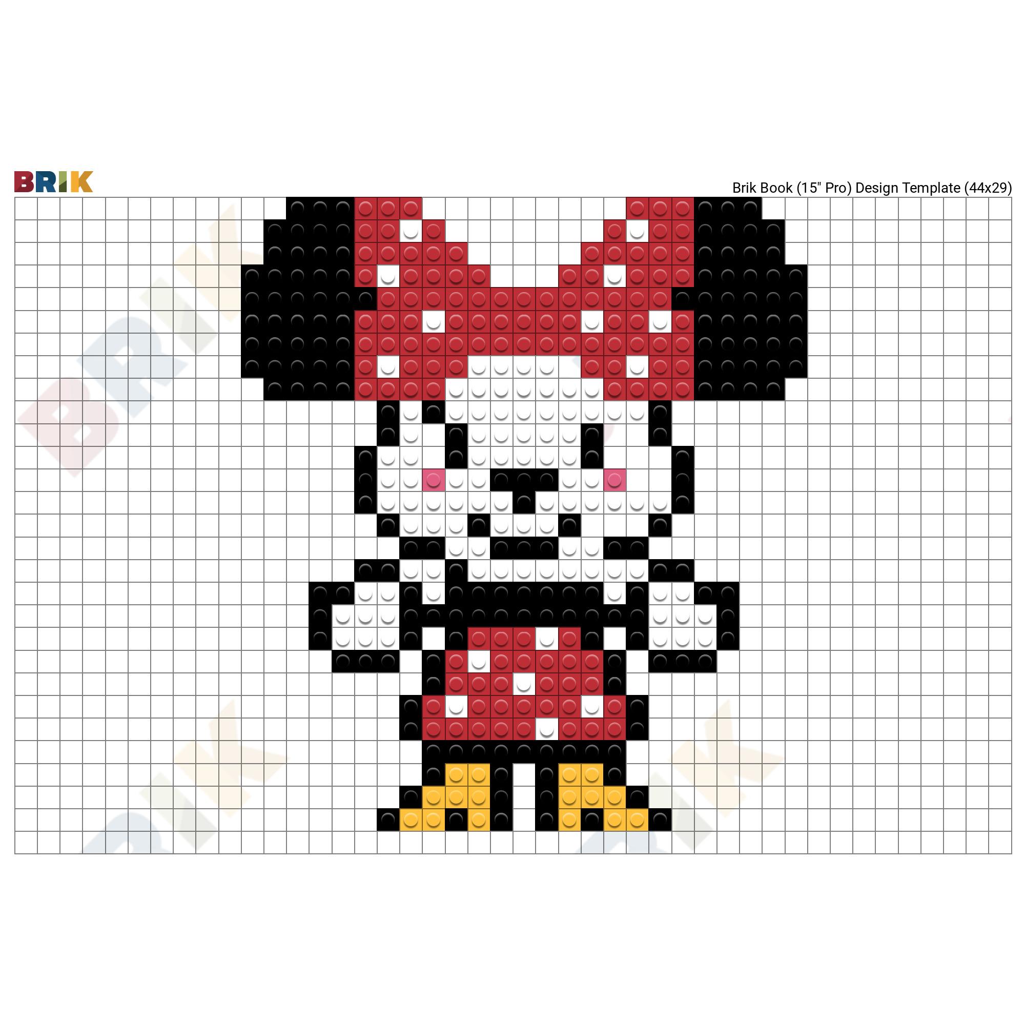 Dessin Pixel Disney Minnie Random Pixel Art Minnie Facile