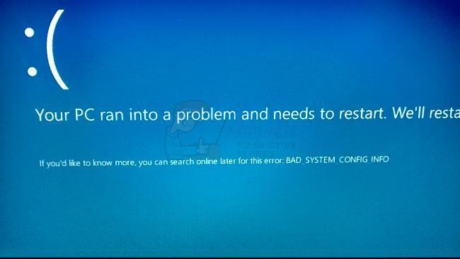 schlechte Systemkonfigurationsinformationen