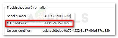 Identifizieren Sie das PS3-Gerät anhand der MAC-Adresse