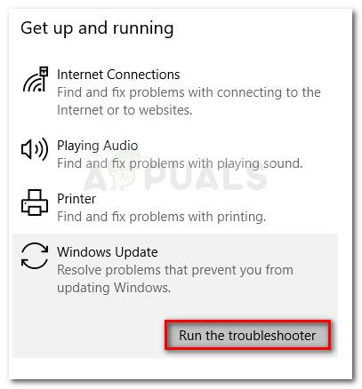 Ausführen der Windows Update-Problembehandlung