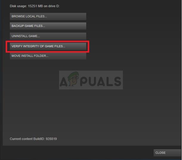 Steam - Überprüfen Sie die Integrität der Spieledateien