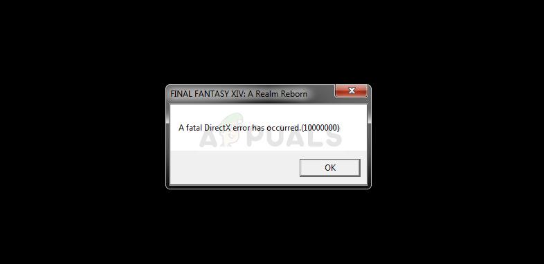 FFXIV Schwerwiegender DirectX-Fehler