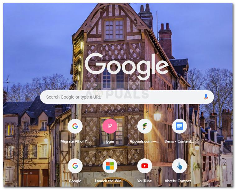 Neuer Tab mit benutzerdefiniertem Hintergrund in Google Chrome