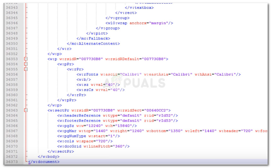 Resolviendo el error XML