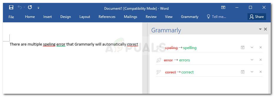 Überprüfen von Grammatikfehlern mit Grammatik in Microsoft Word