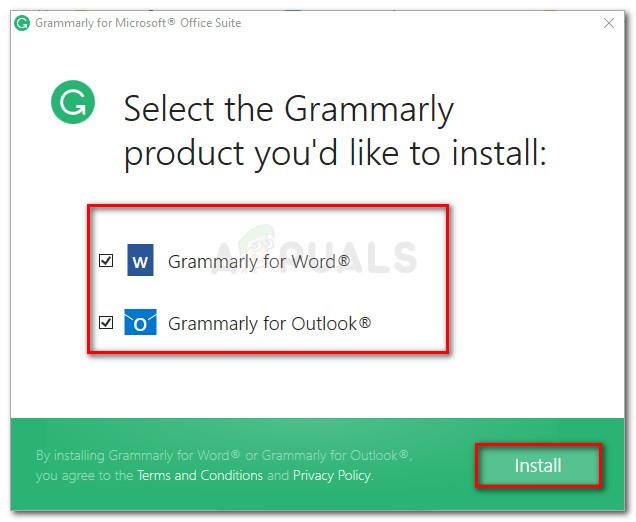 Auswahl der Produkte, in denen Sie Grammatik verwenden möchten