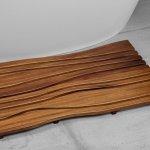 ᐈluxury Aquatica Onde Waterproof Iroko Wood Bath Shower Floor Mat Best Prices Aquatica