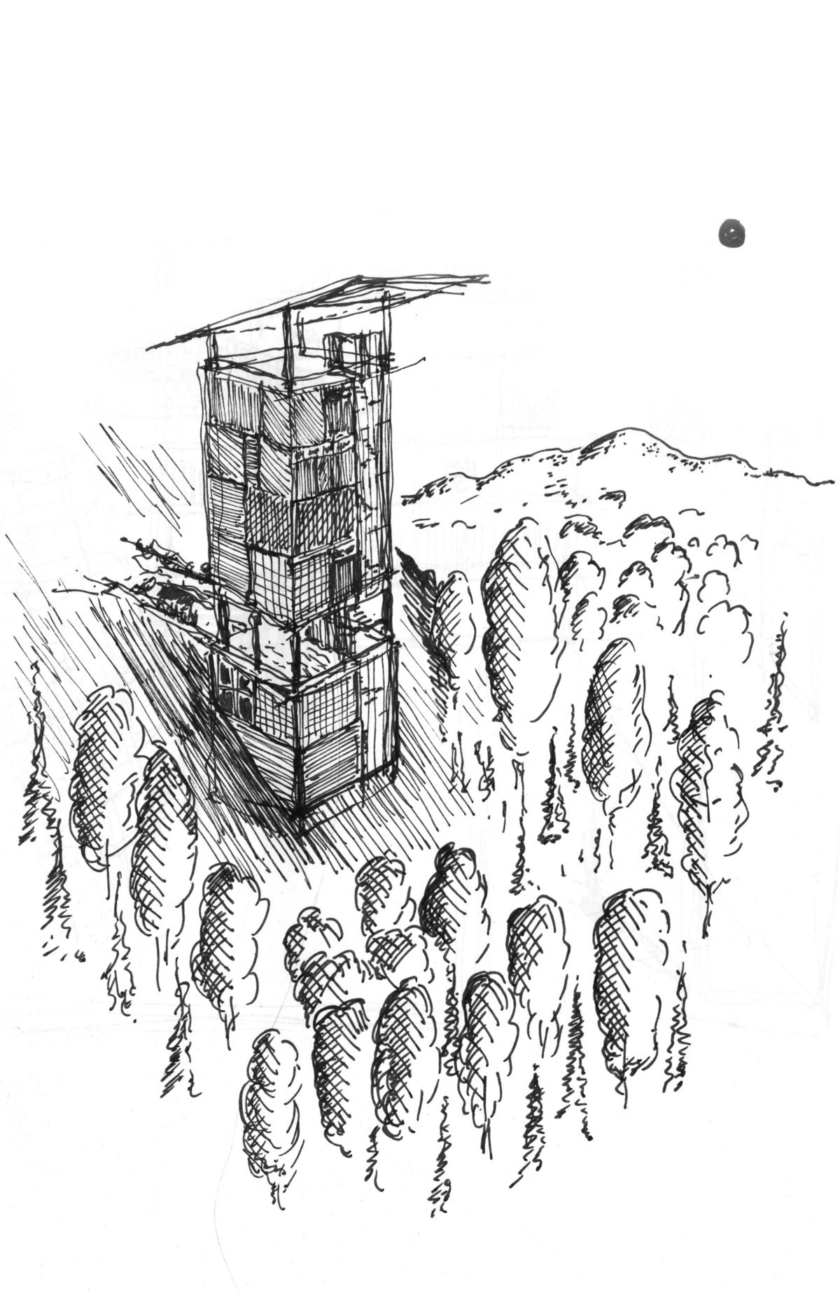 Tower House On A Hill