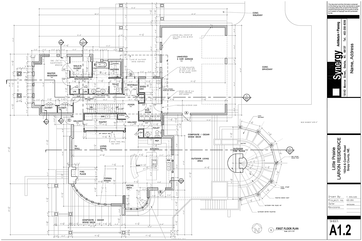 Set Of Construction Drawing For Custom Home