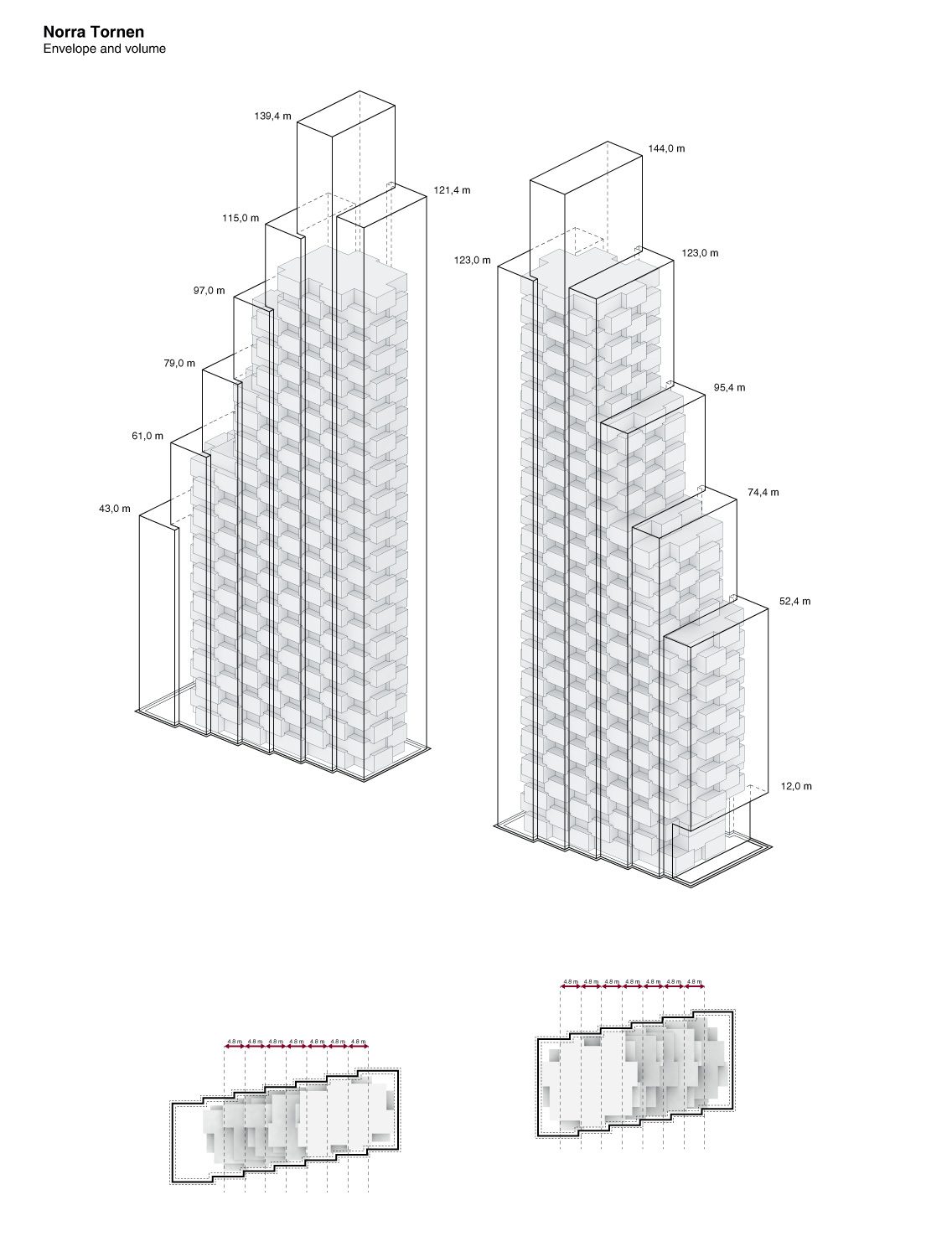 New Details On Oma S Norra Tornen Twin Towers In Stockholm