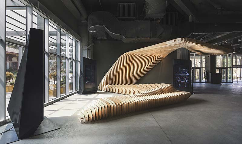Alper Derinbogazs Tri Fold Dialogue Of Form And Space