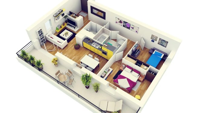 4 Modern Two Bedroom Apartment With Balcony