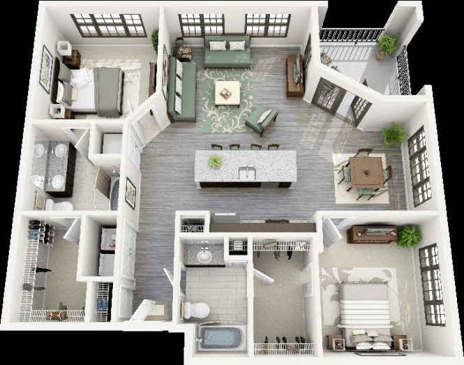44 Crescent Ninth Street Two Bedroom Apartment