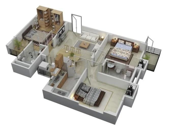 44 3 Bedroom Floor Layout Of Houses
