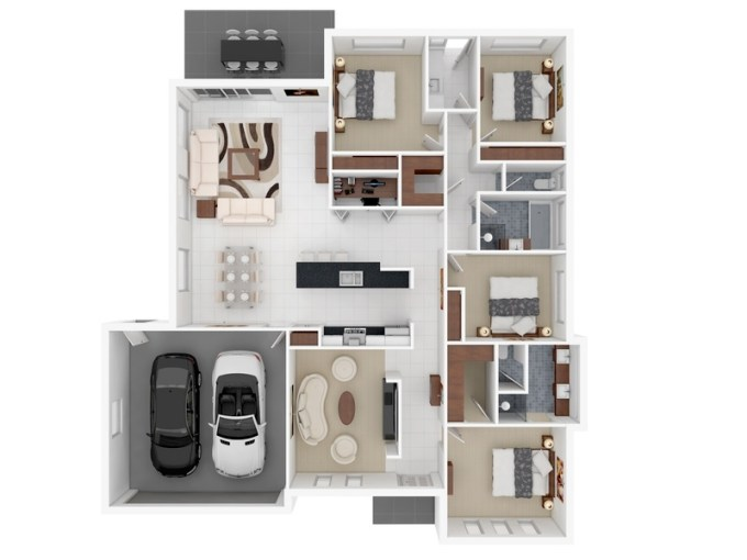50 Four    4    Bedroom Apartment House Plans   Architecture   Design 25 4 Bedroom Apartment House Plans Image