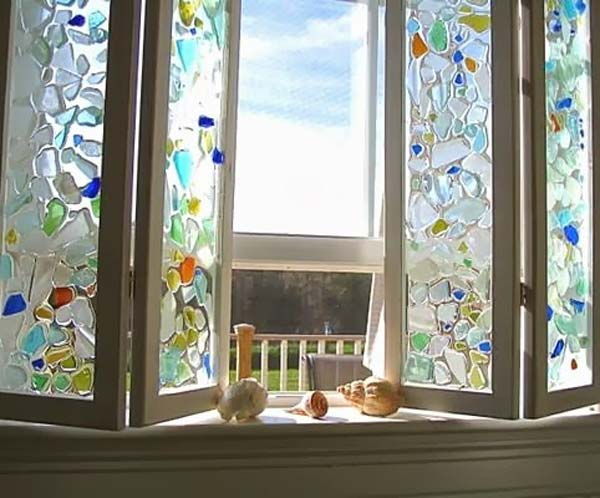 20 Cute Diy Home Decor Ideas With Colored Glass And Sea