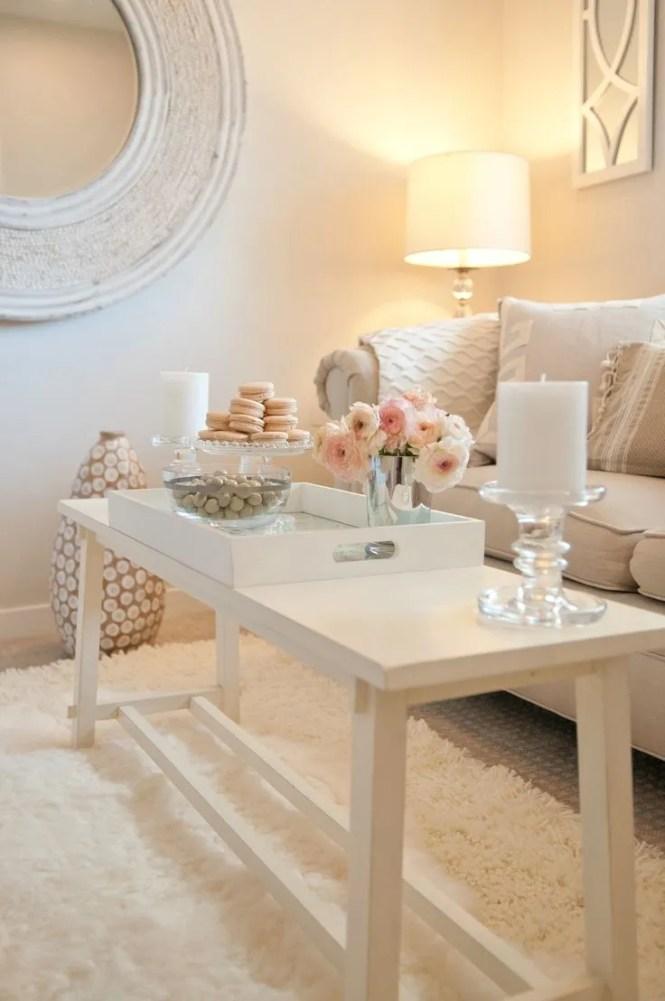 Ad 14 White Romantic Living Room Decor 1