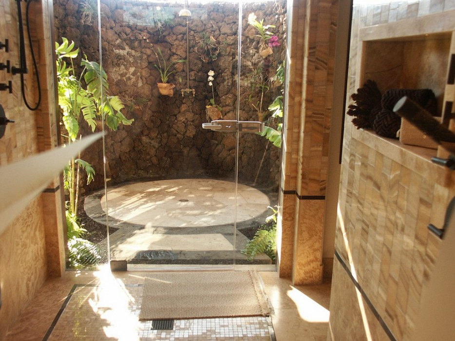 Unique Nature Waterfall Bathrooms