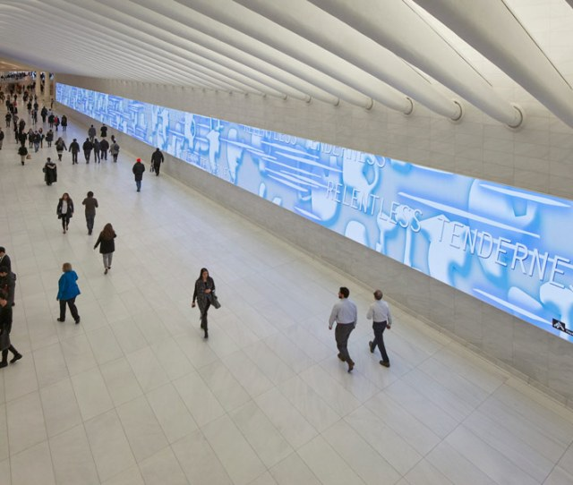 Public Art On  Screens Now On View In New York Pictured Here Hayal