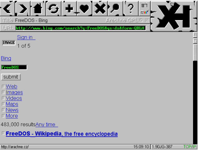 A DOS-based Web browser.
