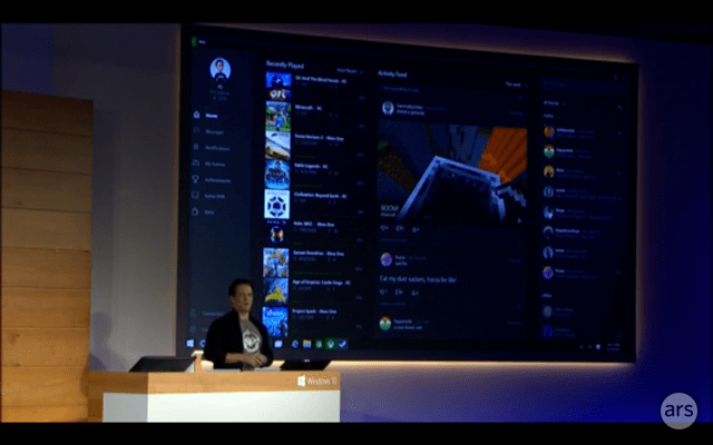 Windows 10 Includes In Home Game Streaming From Xbox One Ars Technica