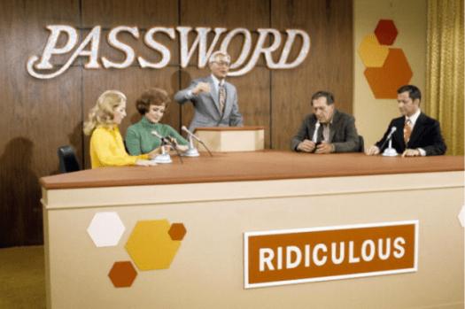 Screenshot from gameshow Password.