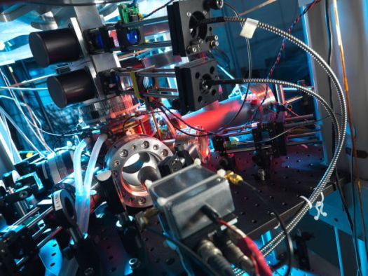 An atomic clock based on a fountain of atoms.