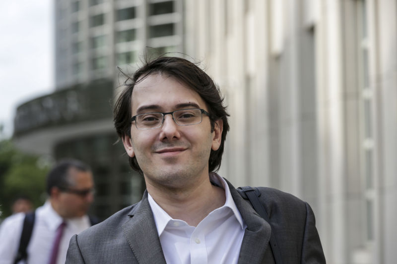 Martin Shkreli outside federal court in Brooklyn, New York, on Thursday, June 29, 2017.